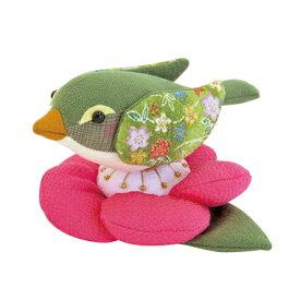 手作りキット 酉 鳥 とり トリ 梅にウグイス パッチワーク ぬいぐるみ キット [オリムパス・オリンパス] 【酉年】【鳥年】【手作り】【キット】【手作りセット】【セット】【干支キット】【置物】