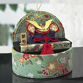 端午の節句 五月人形 手作り キット 端午のたまて箱 緑 ちりめん [パナミ 12] 【兜】【かぶと】【五月五日】【こどもの日】【子どもの日】【手作りキット】【手作りセット】【飾り】【置物】