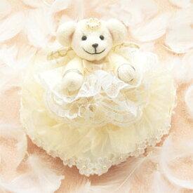 【10%OFF】 リングピロー 手作りキット リングピローキット ハートのリングピロー クリーム [パナミ] 【手作り】【キット】【ウェディング】【ブライダル】【結婚式】【結婚祝い】【結婚】【お祝い】【プレゼント】