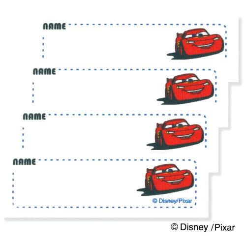 ネームラベル カーズ ディズニー 4枚入 〔パイオニア〕 【ネーム】【ラベル】【まいネーム】【名前】【ネームテープ】【テープ】【アイロン】【キャラクター】【裁縫材料】【手芸】【手芸用品】【かーず】
