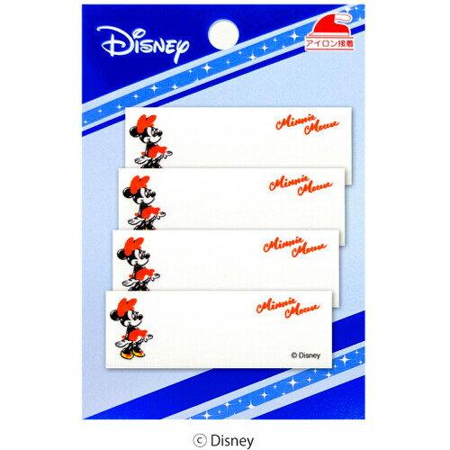 ネームラベル ミニーマウス ディズニー 4枚入 〔パイオニア〕 【ネーム】【ラベル】【まいネーム】【名前】【ネームテープ】【テープ】【アイロン】【キャラクター】【裁縫材料】【手芸】【手芸用品】【ミニー】【ミニーちゃん】