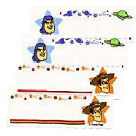 ネームラベル トイストーリー ディズニー 4枚入 〔パイオニア〕 【ネーム】【ラベル】【まいネーム】【名前】【ネームテープ】【テープ】【アイロン】【キャラクター】【裁縫材料】【手芸】【手芸用品】【ウッディ】【バズ】