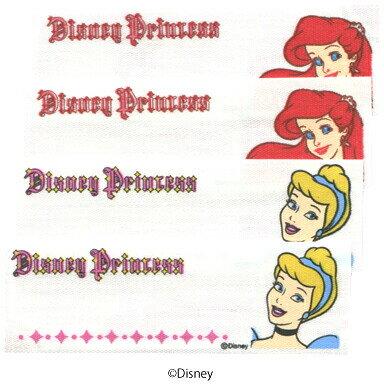 ネームラベル プリンセス ディズニー 4枚入 〔パイオニア〕 【ネーム】【ラベル】【まいネーム】【名前】【ネームテープ】【テープ】【アイロン】【キャラクター】【裁縫材料】【手芸】【手芸用品】【アリエル】【シンデレラ】