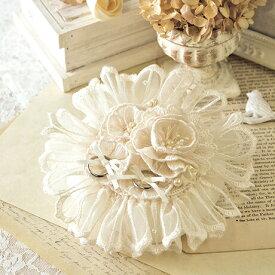 リングピロー 手作りキット リングピローキット プレミアム・レースのお花のリングピロー [ハマナカ 12] 【手作り】【キット】【ウェディング】【ブライダル】【結婚式】【結婚祝い】【結婚】【お祝い】【プレゼント】【リング】【ピロー】