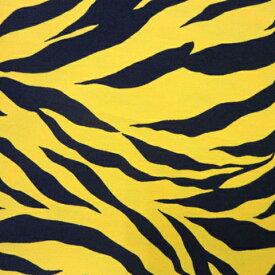 タイガー&ゼブラ ツイル(単位50cm)阪神タイガース/ラムちゃん/鬼のパンツ/節分/豆まき/子供/キッズ/虎柄/トラ/シマウマ/しま馬/白虎/Tiger/Zebra/コスプレ/生地/綿/コットン/プリント/ハンドメイド/手づくり/手作り