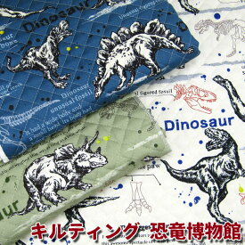キルティング 恐竜博物館(単位50cm)ダイナソー/キルト/入園/入学/生地