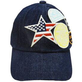 ベビー帽子 子供帽子 野球帽 キャップ デニム ワッペン DaddyOhDaddy ダディオダディ 49cm 50cm 52cm 53cm 54cm 56cm B57410