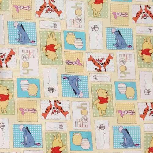 Disney ディズニー くまのプーさん&イーヨー 生地 切り売り ハンドメイド キャラクター 入園 入学 通園 通学 手作り 衣装 パジャマ【アメリカ買付商品】