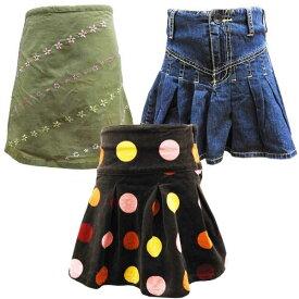売り尽くし 子供服 キッズ スカート 女の子用 110cm 120cm 【アメリカ買付商品】