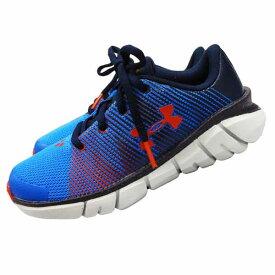 UNDER ARMOUR アンダーアーマー キッズ 子供用運動靴 スニーカー ランニングシューズ 運動靴 軽量 19cm ブルー 【アメリカ買付商品】