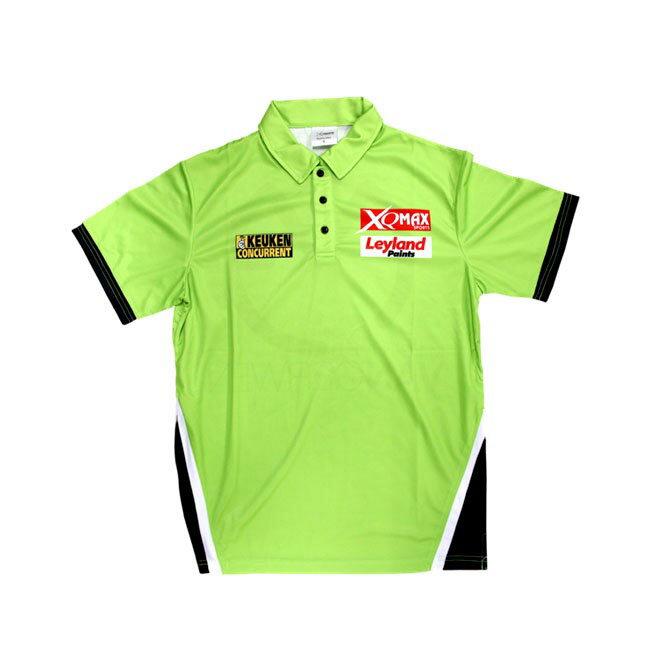 XQ MAX DARTS(エックスキューマックスダーツ) MvG Replica Match Shirt with 2 Stars(レプリカマッチシャツ) マイケル・ヴァン・ガーウェン選手モデル (ダーツ アパレル)
