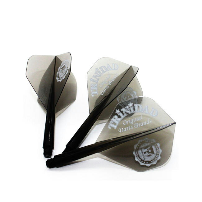 ダーツ フライト CONDORフライト×TRiNiDAD カレッジロゴデザイン <スタンダード クリアブラック>【コンドルフライト トリニダード FLIGHT シャフト 一体型
