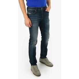 DIESEL/ディーゼル Blue メンズ 17cm Stonewashed BUSTER Slim Fit Jeans L32 dk