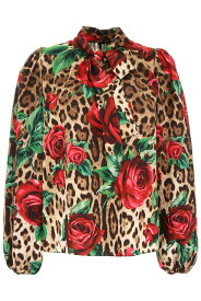 DOLCE&GABBANA/ドルチェ&ガッバーナ ブラウス ROSE ROSSE FDO LEO Dolce & gabbana leopard and roses print blouse レディース 春夏2019 F71P8T FSAXZ ik