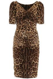 DOLCE&GABBANA/ドルチェ&ガッバーナ ドレス LEO NEW Dolce & gabbana leopard print midi dress レディース 秋冬2019 F6E7AT FSADD ik