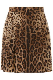 DOLCE&GABBANA/ドルチェ&ガッバーナ ショートスカート LEO NEW Dolce & gabbana leopard-printed mini skirt レディース 秋冬2019 F4BDDT FSBAV ik