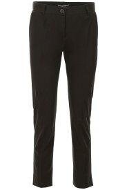 DOLCE&GABBANA/ドルチェ&ガッバーナ スリムパンツ ブラック 黒色 NERO Dolce & gabbana stretch cotton trousers レディース 秋冬2019 FTAGNT FUFIS ik