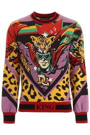 DOLCE&GABBANA/ドルチェ&ガッバーナ トレーナー LEO SUPER FDO BEIGE Dolce & gabbana leopardking sweatshirt メンズ 秋冬2019 G9OG4T HH7LK ik