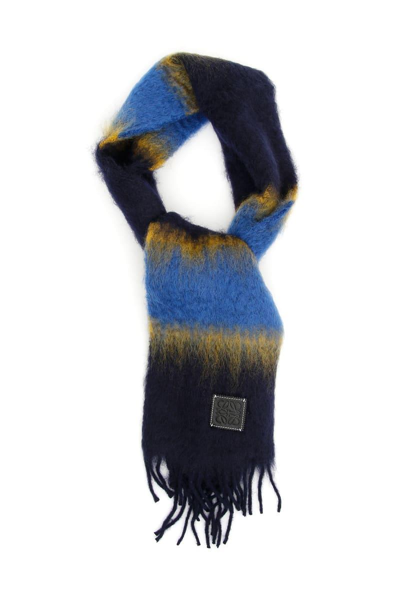 LOEWE/ロエベ スカーフ COLORI MISTI Loewe multicolor striped scarf メンズ FW2018 92828099 ik