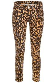 MIU MIU/ミュウ ミュウ デニムパンツ KAKI Miu miu leopard-printed jeans with patch レディース 春夏2019 GWP275 1TG0 ik