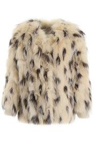 MIU MIU/ミュウ ミュウ ファージャケット CERA NATURALE Miu miu fox fur jacket レディース 秋冬2019 MYV214 Y8A ik
