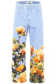 MSGM/エムエスジーエム デニムパンツ ブルー 青色 BLUE Msgm jeans with floral print レディース 春夏2019 2642MDP149LD 195488 ik