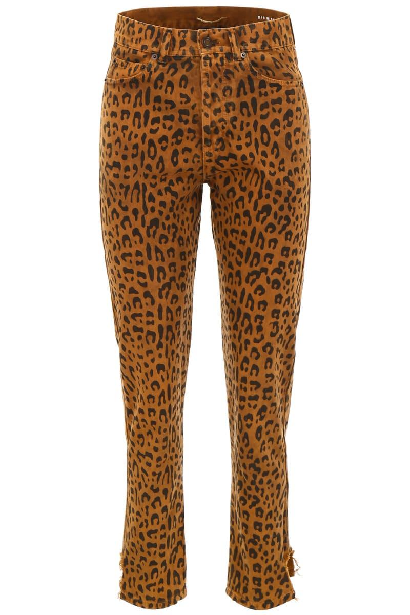 SAINT LAURENT PARIS/イヴ・サンローラン デニムパンツ COLORI MISTI Saint laurent leopard-printed slim jeans レディース FW2018 527403 YN888 ik