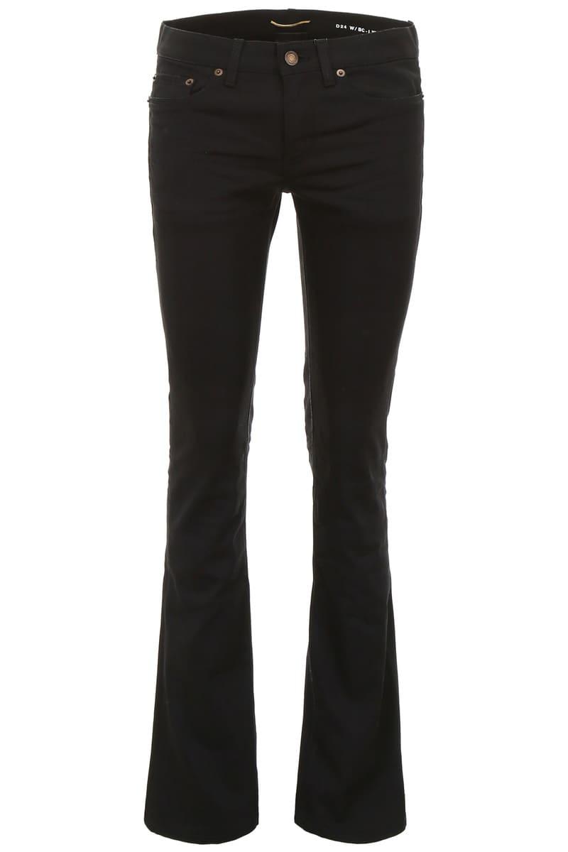 SAINT LAURENT PARIS/イヴ・サンローラン デニムパンツ NERO Saint laurent flared jeans レディース FW2018 535317 YF869 ik