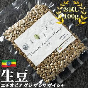 コーヒー 生豆 お試し 100g エチオピア グジ ゲレザ ゲイシャ 珈琲 コーヒー豆少量 グリーンコーヒー 自家焙煎に 真空パック