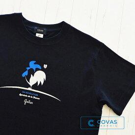 Tシャツ メンズ レディース【フレンチ鶏】301331-19 BLACK ブラック フランス トリコロール 半袖 天竺 ヘビーウエイト 5.6オンス グラフィック プリント デザイン カットソー XS S M L XL