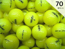 Iクラス 2016年モデル ホンマ D1 イエロー 70球セット 送料無料 ロゴマーク入り /ロストボール 【中古】