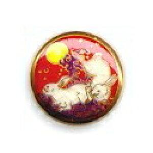薩摩ボタン|Satsuma Buttons(15mm)|SB-017 波うさぎ(赤)|アロハタワー(アロハシャツ販売)
