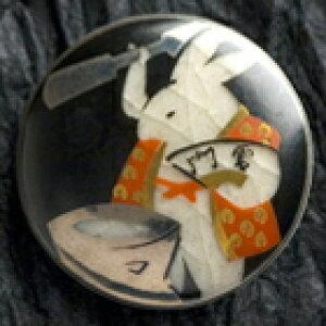 薩摩ボタン|Satsuma Buttons(25mm)|SBG-052 餅つき兎(黒)|アロハタワー(アロハシャツ販売)