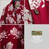 맨즈 화려한 셔츠|하와이안 문(HAWAIIAN MOON)|hm-134 PJ1 파인애플(PINEAPPLE)|레드|맨즈|레이온 100%(Rayon 100%)|풀어헤친 옷깃(오픈 칼라)|풀 오픈|반소매|알로하 타워(화려한 셔츠 판매)