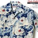 アロハシャツ|フラケイキ ハワイアン(HULA KEIKI HAWAIIAN)|HK-035ID 百虎(HYAKU TORA)|ブルー|インディゴ抜…