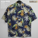 アロハシャツ|カハラ(KAHALA)|kh-5925 LAUA'E(ラウアエ)|ネイビー|メンズ|コットン・ブロードクロス100%(Cotton Broadcloth100%)|ノーマル襟(レギュラー