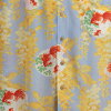 阿罗哈 macanarai (卡拉雷) | AMT 078 金鱼和紫藤,萨克斯 | 男装 | (Chirimen) 绸 | 薄面团 | 短袖 | 阿罗哈 (Aloha 衬衫销售) MAKANALEI