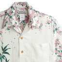 アロハシャツ マカナレイ(MAKANA LEI)|AMT-081 桜と波虎|アイボリー|メンズ|縮緬(ちりめん)シルク|薄手生地…