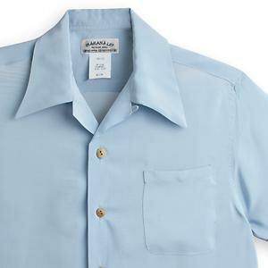 アロハシャツ・マカナレイ(MAKANA LEI) AMT-075ドラゴンボーダー・ブルーグレイ メンズ 縮緬(ちりめん)シルク 薄手生地 半袖 アロハタワー(アロハシャツ販売) MAKANALEI