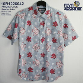 4cb962bd6 アロハシャツ|レインスプーナー(REYN SPOONER)|0122-6042 KUILIMA  COVE(クイリマ・コーブ)|ブルーヘイズ|コットン100%(100% Hawaiian Cotton)|プラケット ...