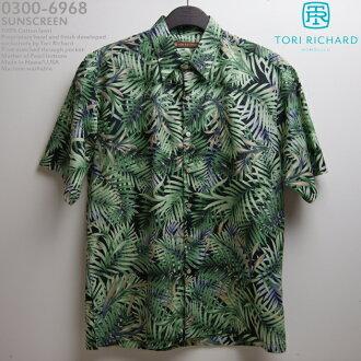 082750bc Aloha tririchard (TORI RICHARD) | tori-6968 SUNSCREEN (sunscreen) | black |  mens | cotton loans 100% (Cotton Lawn 100%) | normal collar (color) | open  ...