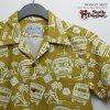 夏威夷衬衫|suteyudio·da·ruchizan(STUDIO D'ARTISAN)|猪夏威夷衬衫SD5527美国的校车(ORIGINAL ALOHA SHIRTS)|芥子|棉布100%|开领子(开放的彩色)|全面开放的|短袖|夏威夷衬衫塔(夏威夷衬衫销售)10P11Mar16