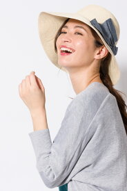 ビックリボンキャペリンハット【ikka レディース】