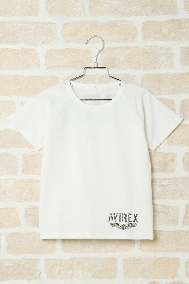 【キッズ】AVIREX アヴィレックス バックロゴT(110~140cm)