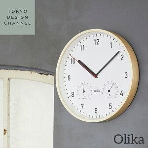 【5%OFFクーポン配布 4/23 20:00〜5/5 23:59まで】【ポイント10倍 4/23 20:00〜5/5 23:59まで】【送料無料】OLIKA オリカ T&H クロック■インテリア 時計 壁掛け 温度計 湿度計【TOKYO DESIGN CHANNEL】