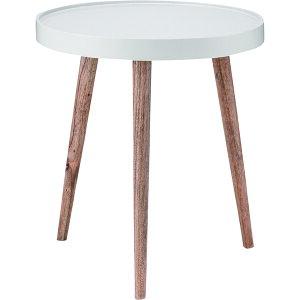 トレーテーブル 大 サイドテーブル 直径45cm 高さ50cm シンプル 木製 ミンディ リビング ソファーテーブル ベッドサイド 円形 丸型 北欧調 送料無料 NW-724 東谷