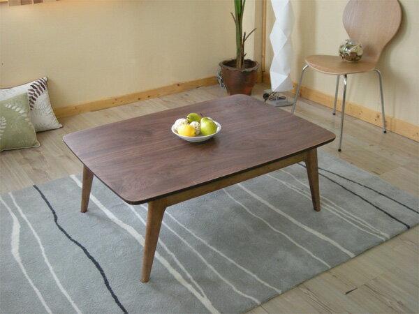 こたつ テーブル = ミッドセンチュリーの雰囲気ある、こたつテーブル 105cm ウォールナット【smtb-F】