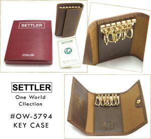 SETTLER/セトラー/#OW-5794/KEYCASE/キーケース/ワンワールドコレクション/本革/オイルドレザー/ブラウン/WhitehouseCox/ホワイトハウスコックスの2ndライン!!/CPOINT