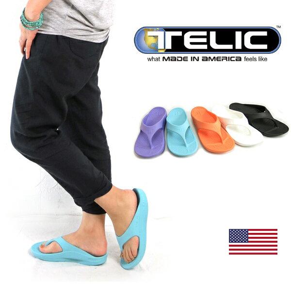 (SALE) (テリック) TELIC #FLIP FLOP Lady's Comfort Sandal #フリップフロップ ラバー トングサンダル アメリカ製 コンフォート ビーチサンダル (レディース/疲労回復/軽量/丸洗い/プール/健康サンダル/解剖学/シューズ/USA/フェス/アウトドア) (5400)
