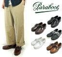 (パラブーツ) Paraboot #BARTH Leather Boat Shoes バース デッキシューズ ナチュラルレザー モカシン ラバーソール マッケイ製法 フランス海軍 マリン (送料無料/